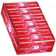 Bubblicious Bubble Gum 18ct - Strawberry