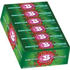 Bubblicious Bubble Gum 18ct - Watermelon