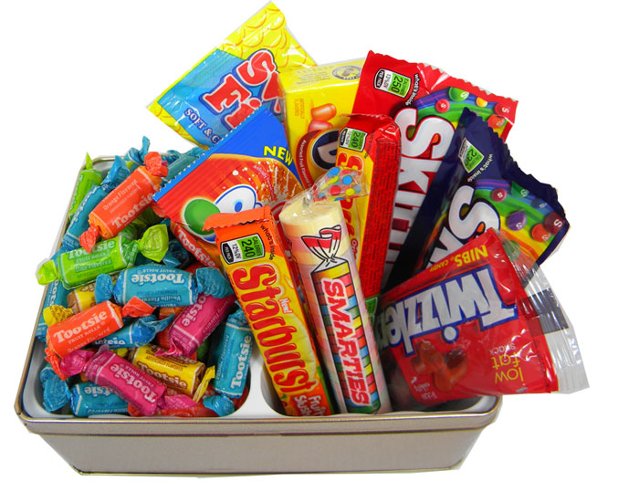 Candy lovers non chocolate gift tin negle Choice Image