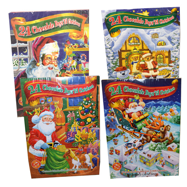 christmas advent calendar filled with chocolate candy blaircandycom