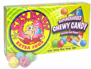 Cry Baby Sour Candies 3.5oz Theater Box