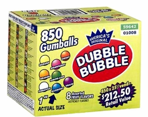 DUBBLE BUBBLE GUMBALLS 850CT