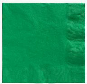 Emerald Green Beverage Napkins 3 Ply - 50 Count