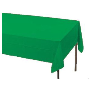 Emerald Green Paper Tablecloth (Plastic lined)