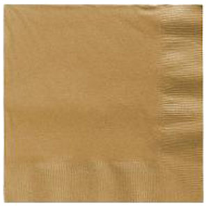 Gold Beverage Napkins 3 Ply - 50 Count