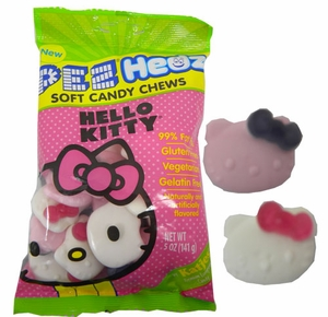 Gummi Hello Kitty Pez Hedz 5oz Bag