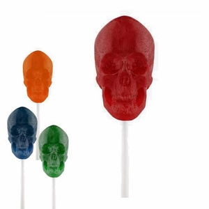 Gummy Skull On A Stick (One)