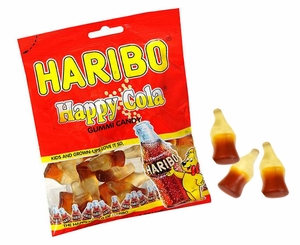 Haribo Happy Gummi Cola Bottles 5oz Bag