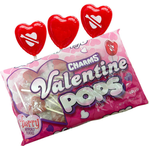 heart shaped lollipops 21 count by charms - Valentine Lollipops