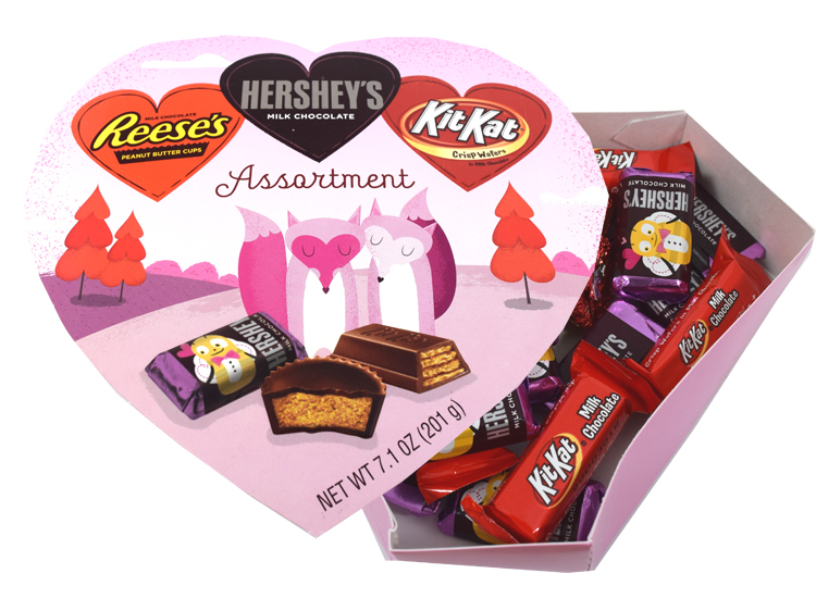 Hershey S Valentine S Day Candy Heart Box Blaircandy Com
