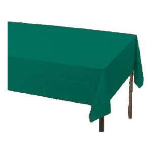 Hunter Green Paper Tablecloth (Plastic lined)
