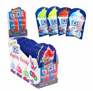 Icee Popping Candy With Lollipop 18 Count
