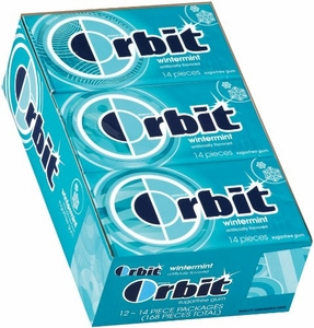 Orbit Sugarless Gum 12ct - Wintermint