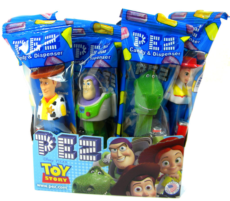 Toy Story Gum : Pez candy with dispenser ct toy story