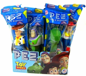 PEZ Candy With Dispenser 12ct - Toy Story