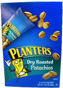 Planters Dry Roasted Pistachios 12ct