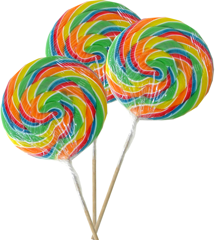 Rainbow Swirly Lollipop Jumbo Size: BlairCandy.com
