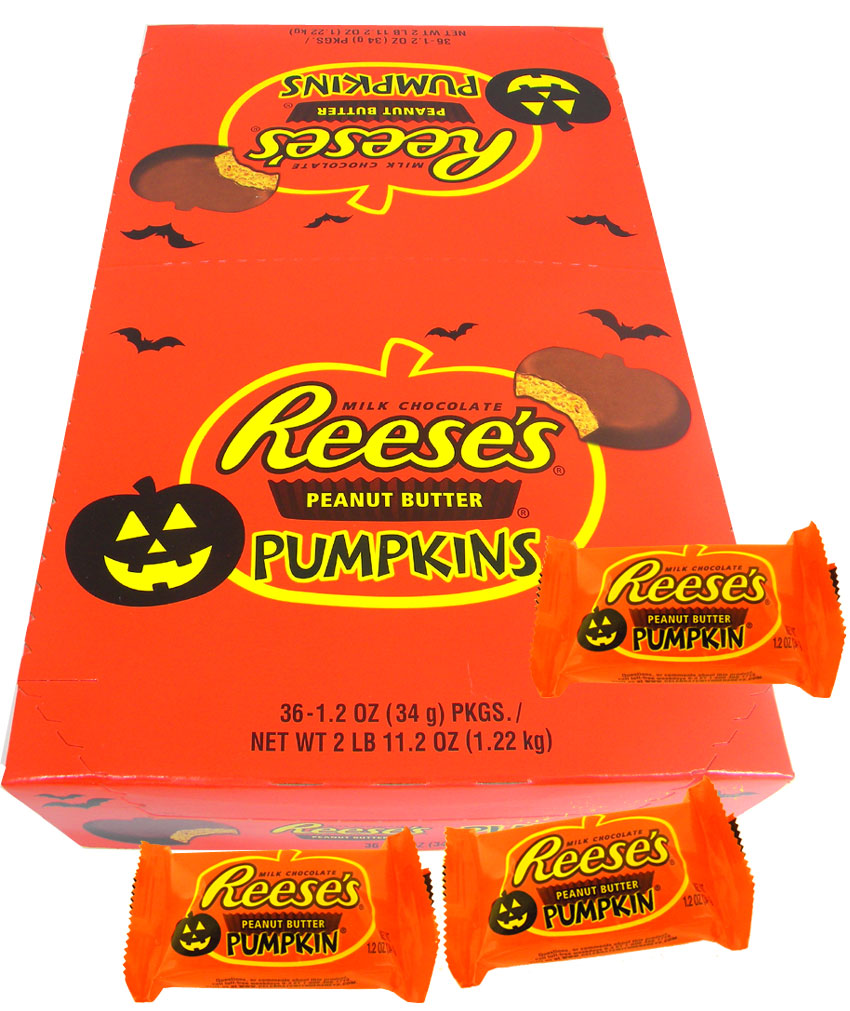 reese's peanut butter pumpkins 36ct halloween candy: blaircandy