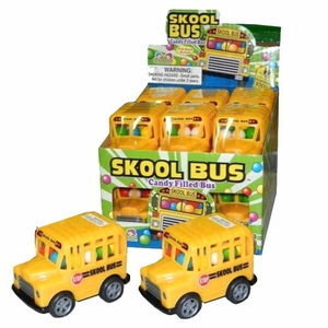 Skool Bus Toy And Candy 12 Count