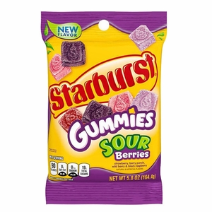 Starburst Gummi Sour Berry 5.8oz Bag