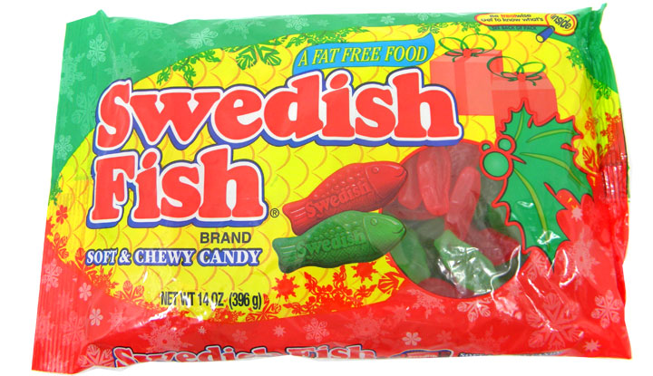 Swedish fish red green christmas 14oz bag for Swedish fish jelly beans
