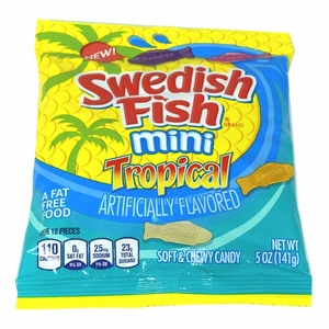 Swedish Tropical Mini Gummi Fish 5oz Bag
