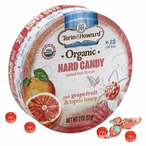 Torie & Howard Pink Grapefruit & Tupelo Honey 2oz Tin 8 Count