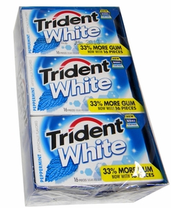 Trident White Sugarless Gum 9 Count - Peppermint
