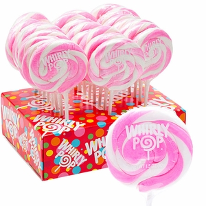 Whirly Pops Lite Pink and White 24 Count Adams & Brooks