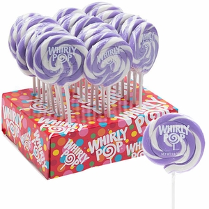 Whirly Pops Purple & White 24 Count Adams & Brooks