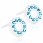 Brilliance Puck Hollow Aquamarine Earrings
