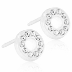 Brilliance Puck Hollow Crystal Earrings
