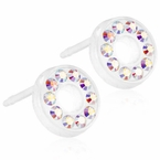Brilliance Puck Hollow Rainbow Earrings