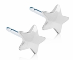 Hypoallergenic Silver Titanium 5mm Star Earrings