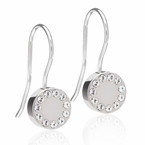 Silver Titanium Brilliance Puck Pendant Earrings