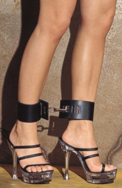 Ankle Cuffs with Bracket and Carabine Hooks (Small)
