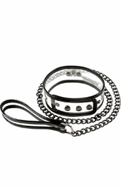 Bare Bondage Vinyl Clear Collar & Leash 18 Inch