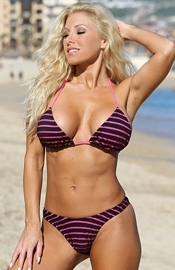 Beacon's Beach - Striped Thong Bikini - Regular Price $69.00