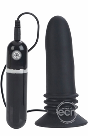 Black Adonis Vibrating Probe - Anal Sex Toy