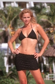 Black Bikinis Swimwear Cover-Ups