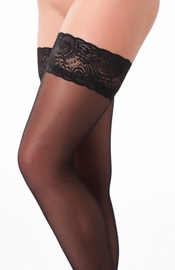 Black Lace Top Thigh-High Stockings - Sexy Lingerie
