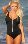 Bolsa Chica Beach - Black One Piece Swimsuit