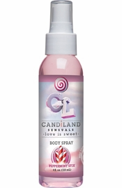 Candiland Sensuals Flavored Body Spray Peppermint Stix 4 Ounce