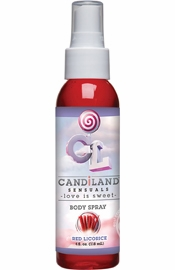 Candiland Sensuals Flavored Body Spray Red Licorice 4 Ounce