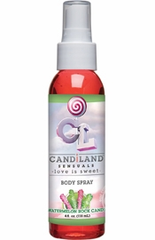 Candiland Sensuals Flavored Body Spray Watermelon Rock Candy 4 Ounce
