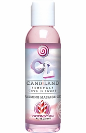 Candiland Sensuals Flavored Warming Massage Gel Peppermint 4 Ounce