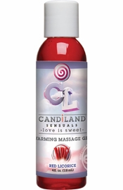 Candiland Sensuals Flavored Warming Massage Gel Red Licorice 4 Ounce