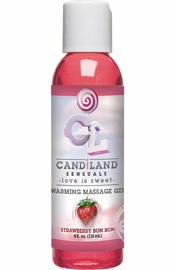 Candiland Sensuals Flavored Warming Massage Gel Strawberry 4 Ounce