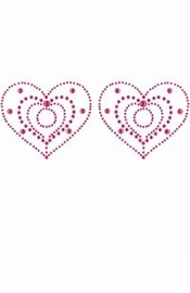 Crystal Pasties - Pink or Purple Heart