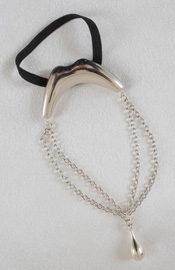 Curl Route - Men's Silver Kiss Penis Chain Bracelet with Pendant
